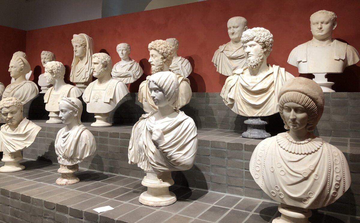 Busti romani antichi della collezione Torlonia. Esposizione temporanea 2020 Villa Caffarelli Roma