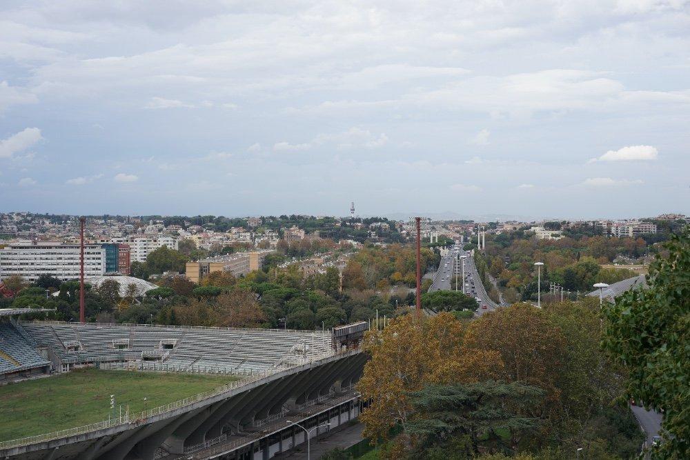 Roma, Stadio Flaminio. Veduta aerea