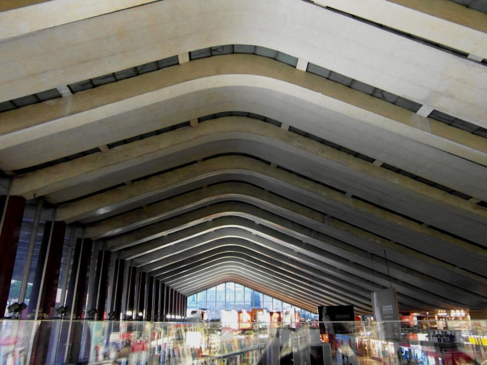 Roma, Stazione Termini. Dettaglio della pensilina