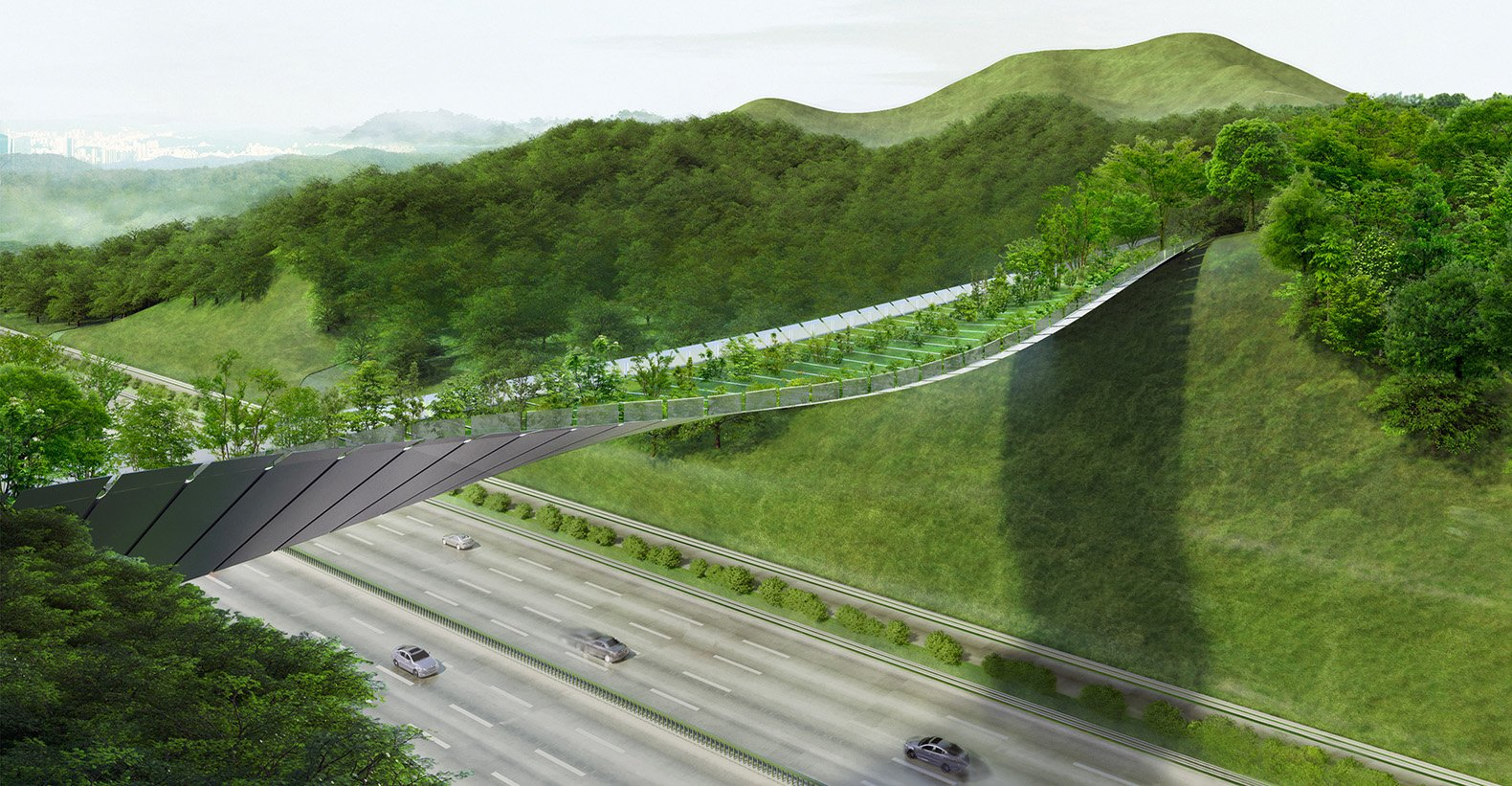 Un render 3D del ponte