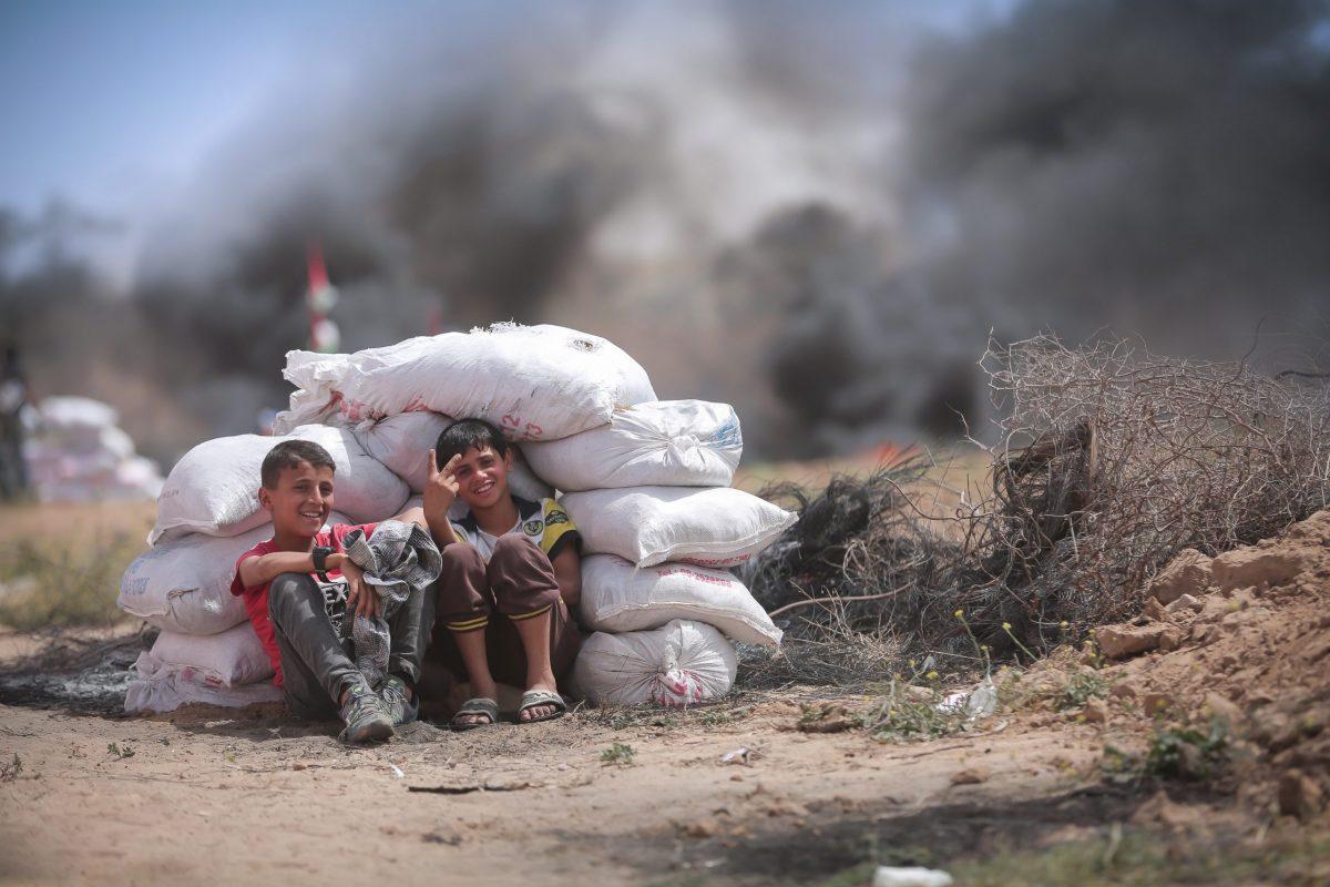 Bambini a Gaza